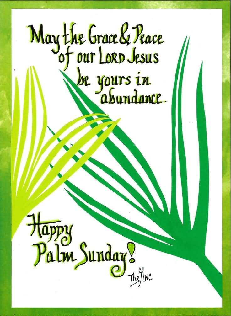 May The Grace & Peace Of Our Lord Jesus Be Yours In Abundance Happy Palm Sunday
