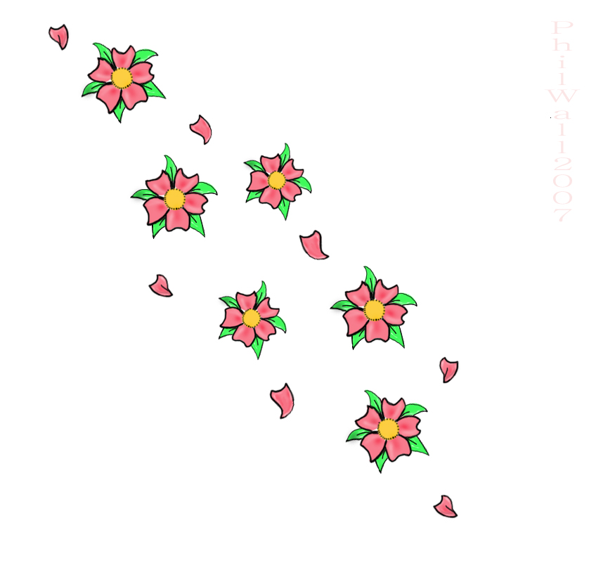 Nice Cherry Blossom Tattoo Design