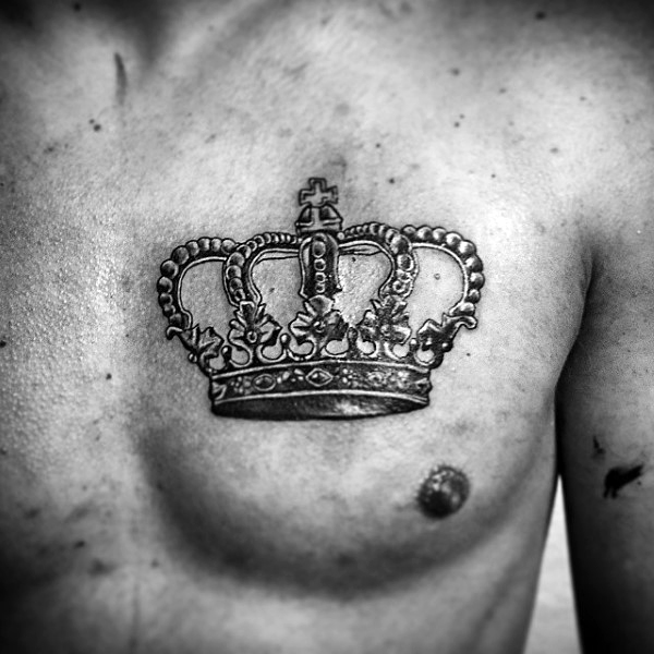 40 crown tattoos on chest. Black Bedroom Furniture Sets. Home Design Ideas