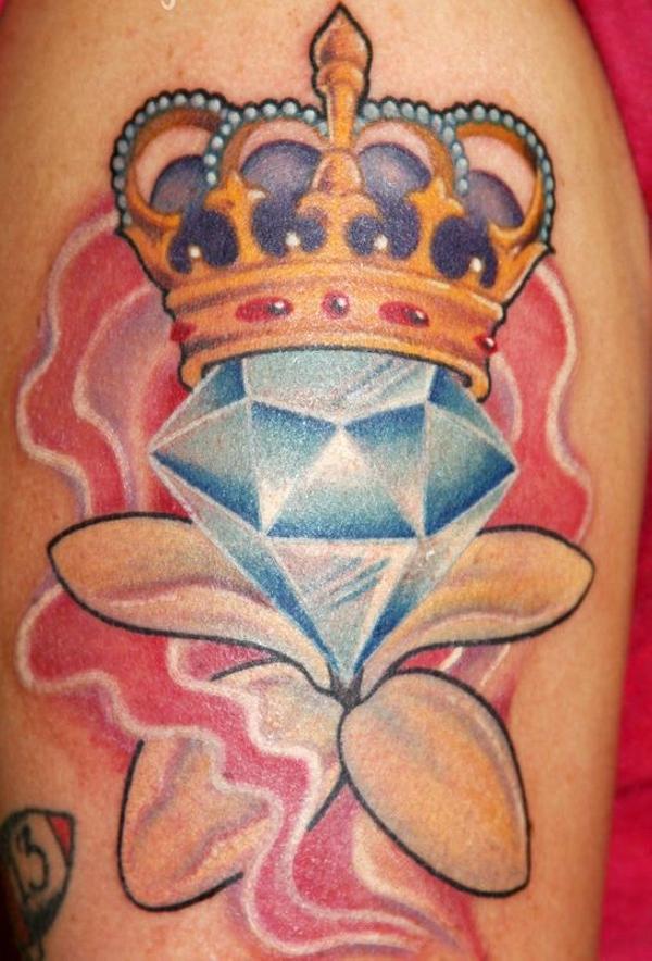 30 diamond and crown tattoo. Black Bedroom Furniture Sets. Home Design Ideas