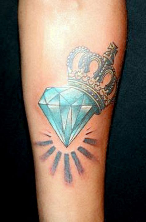 30+ Diamond And Crown Tattoo