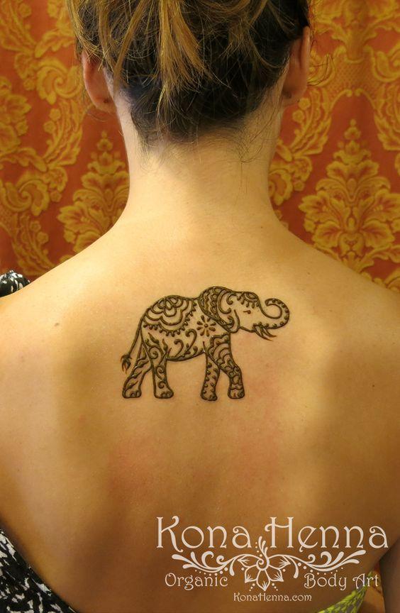 Henna Back Tattoo Designs: 45+ Henna Elephant Tattoos