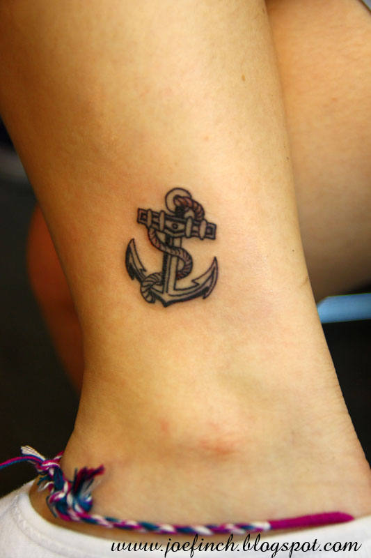 56 nice anchor tattoos on ankle