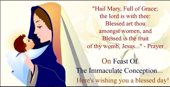 35 immaculate conception day pictures and photos on the feast of the immaculate conception heres wishing you a blessed day m4hsunfo Images