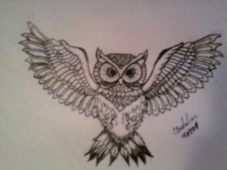 56+ Best Flying Owl Tattoos