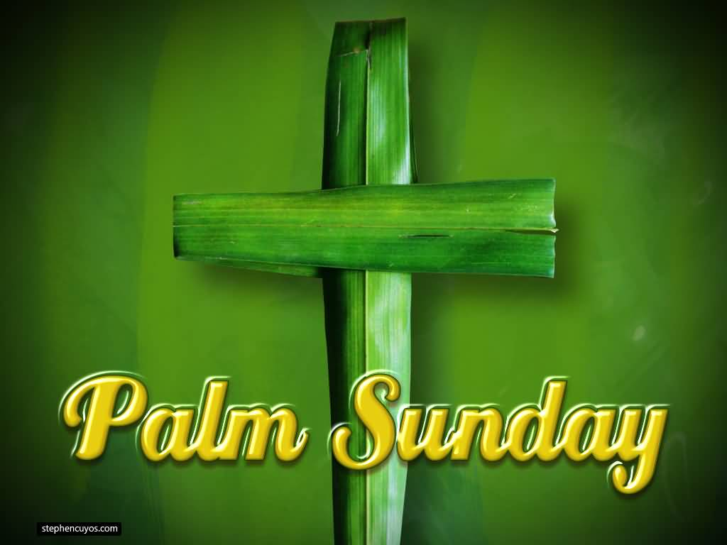 Palm Sunday Cross Of Palm Leaves