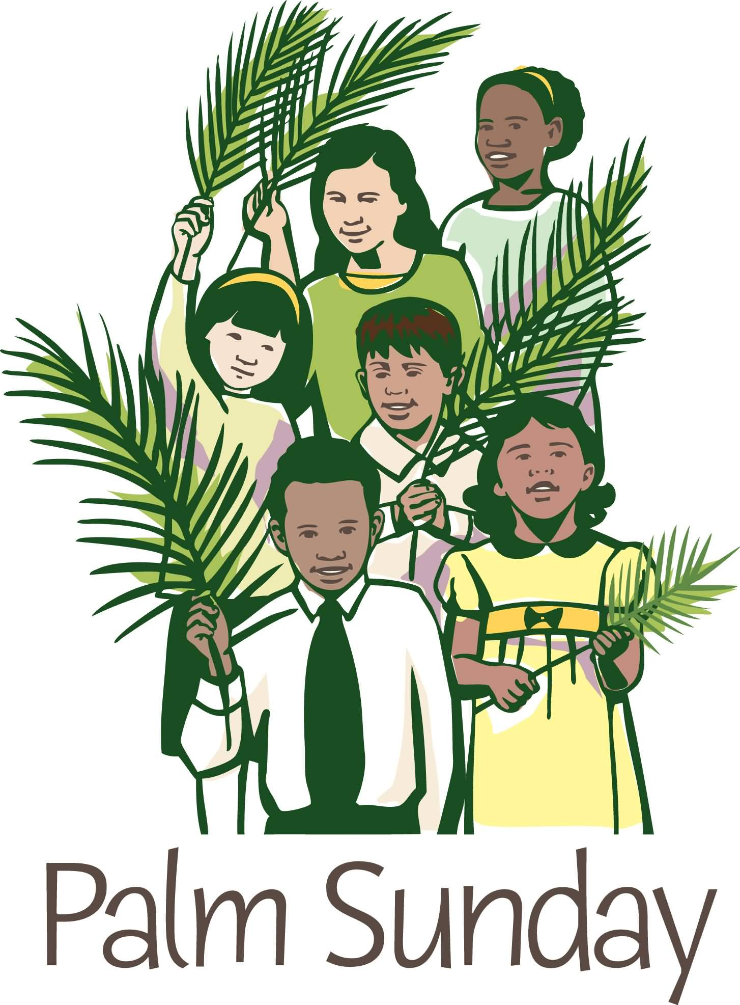Palm Sunday Kids With Palm Leaves Picture
