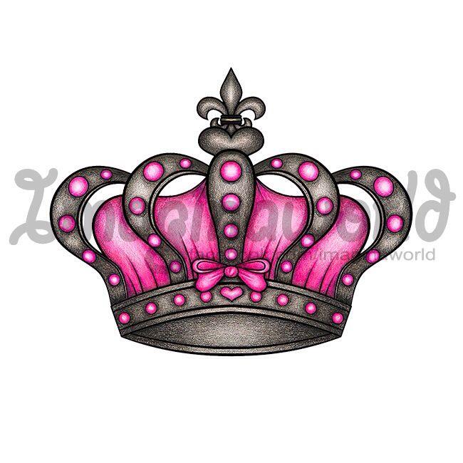 Crown Tattoo Line Drawing : Best crown tattoo designs