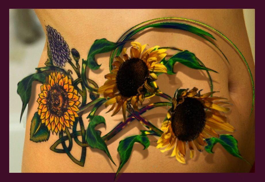 55 Latest Realistic Sunflower Tattoos