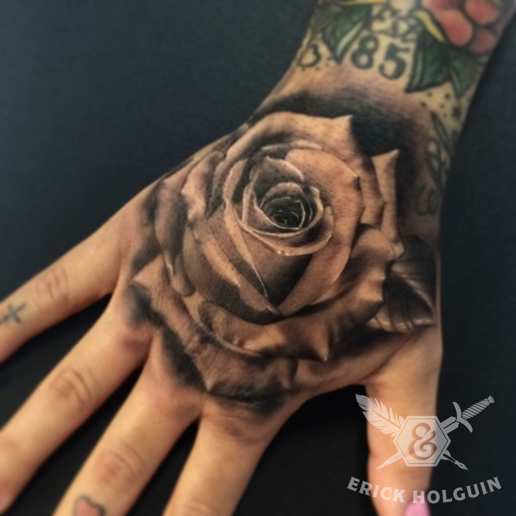 Rose Tattoo On Hand: 50+ Amazing Rose Hand Tattoos
