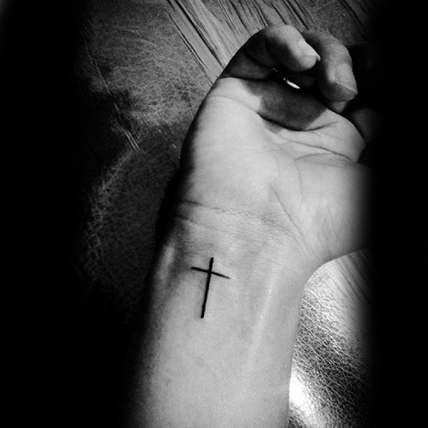 32+ Cross Tattoos On Wrist For Men