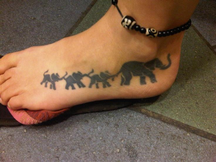30 elephant tattoos on foot for Elephant foot tattoo