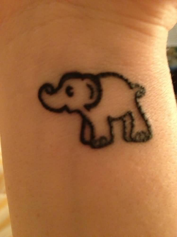 46 elephant tattoos on wrists. Black Bedroom Furniture Sets. Home Design Ideas