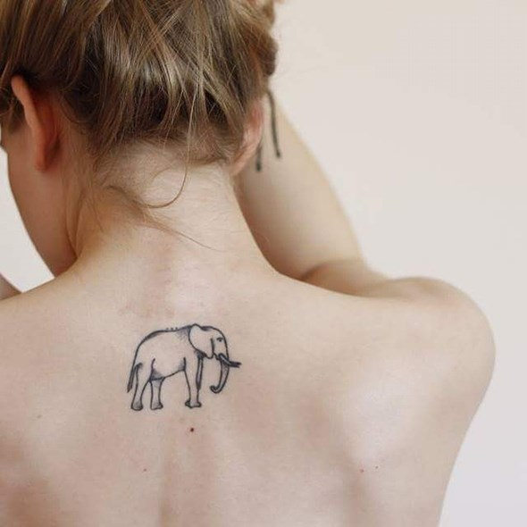 20+ Simple Elephant Tattoos Collection