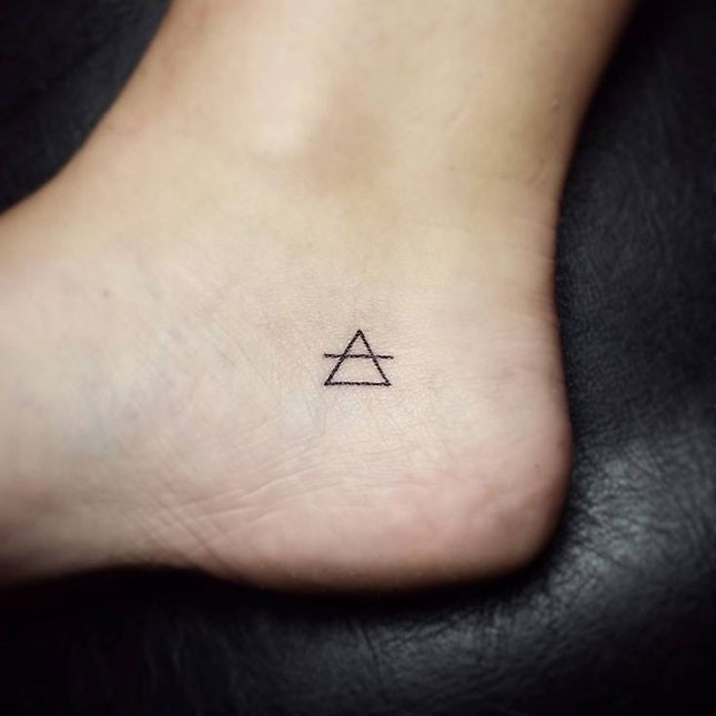 15 simple triangle tattoos for Simple tattoos with meaning