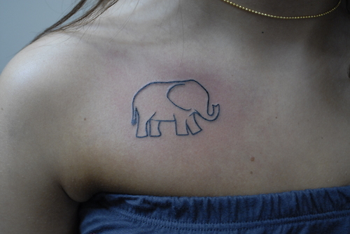 20 simple elephant tattoos collection - Cute elephant tattoos tumblr ...