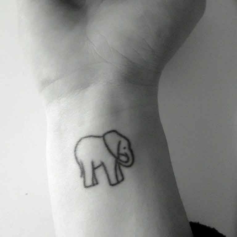 Elefantes Tatuaje Paper Elephant Tattoos Pictures Www Picturesboss Com
