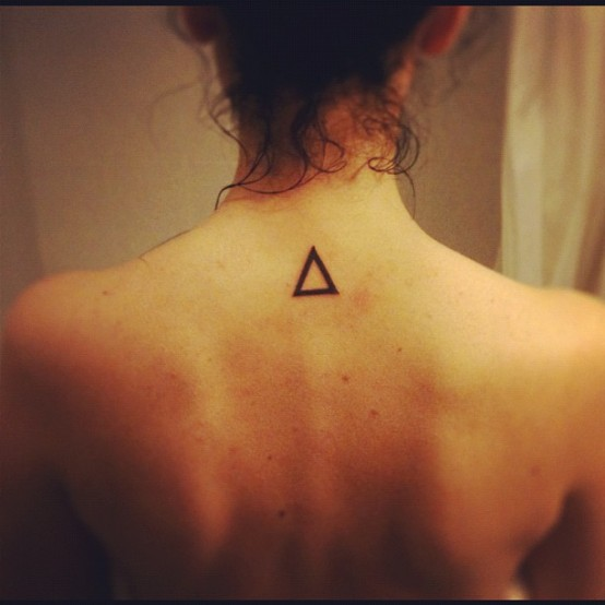 20 nice triangle tattoos for girls. Black Bedroom Furniture Sets. Home Design Ideas