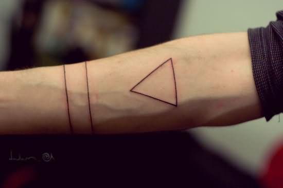 43 Triangle Tattoos On Forearm