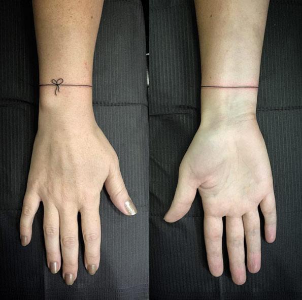 Feather Bracelet Tattoo On Wrist For Men: 50+ Best Bracelet Tattoos Ideas