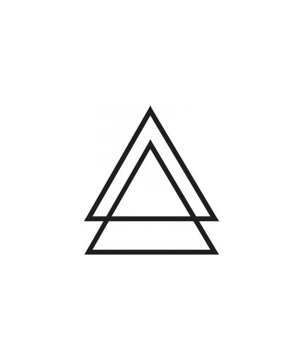 Simple Two Black Triangle Tattoo Stencil