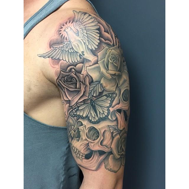 Dove Tattoos Half Sleeve Half Sleeve Tattoos Cl...