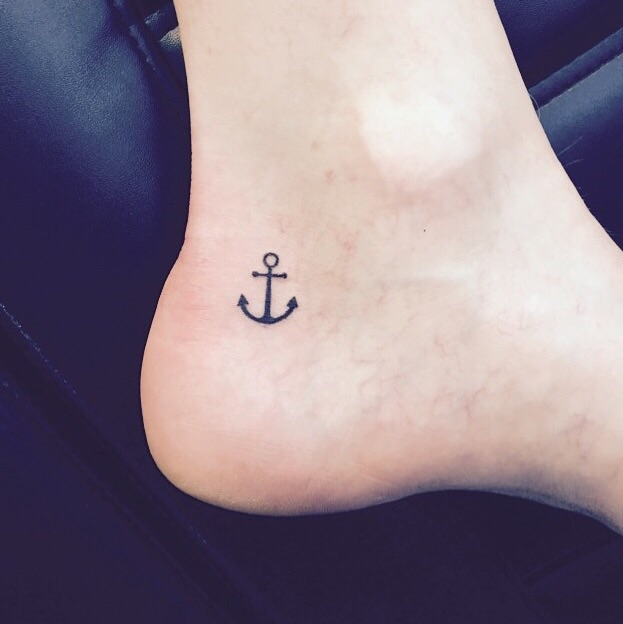 Mens Small Anchor Tattoo: 56+ Nice Anchor Tattoos On Ankle