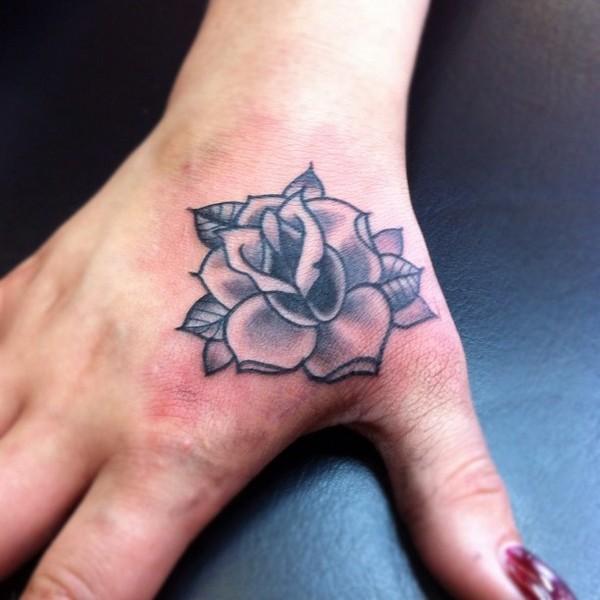 47 Rose Hand Tattoos For Women