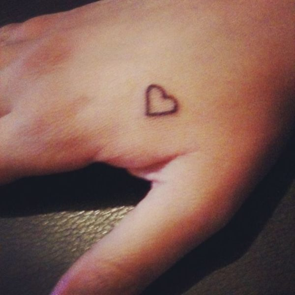 15 heart hand tattoos for women for Small heart tattoos