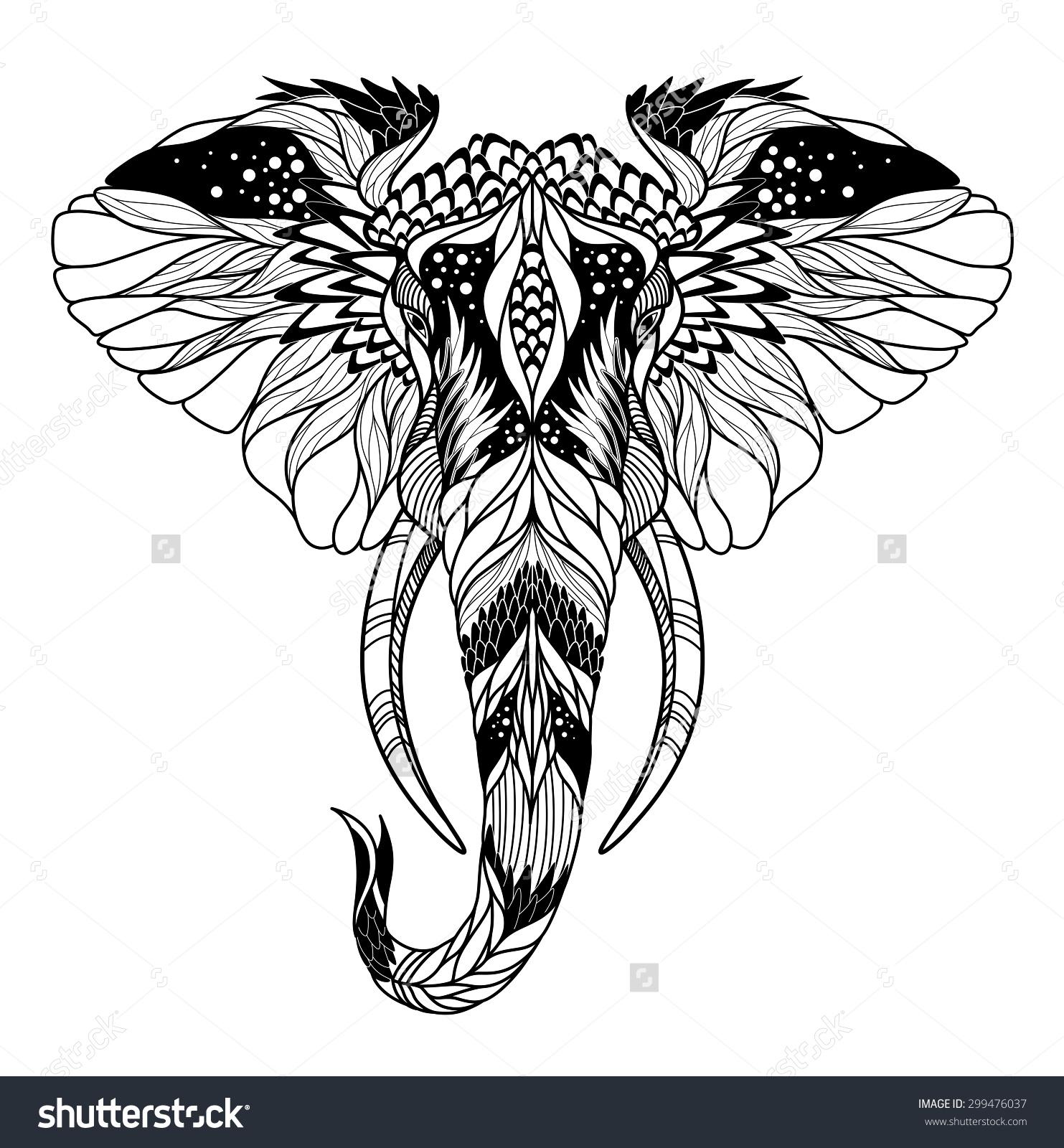 elephant head stencil wwwpixsharkcom images