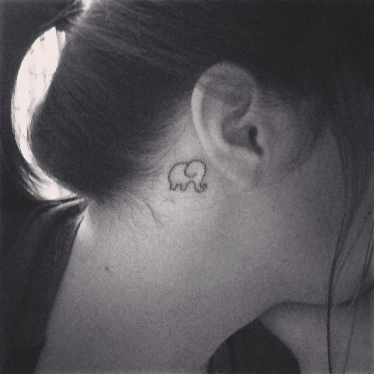 15 Elephant Tattoos Behind The Ear