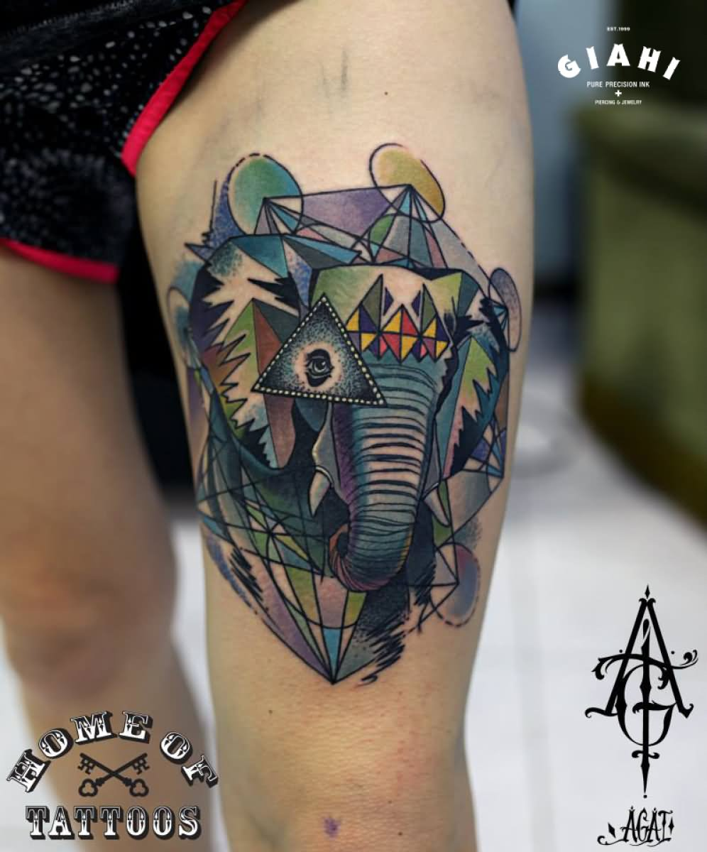 45+ Elephant Head Tattoos