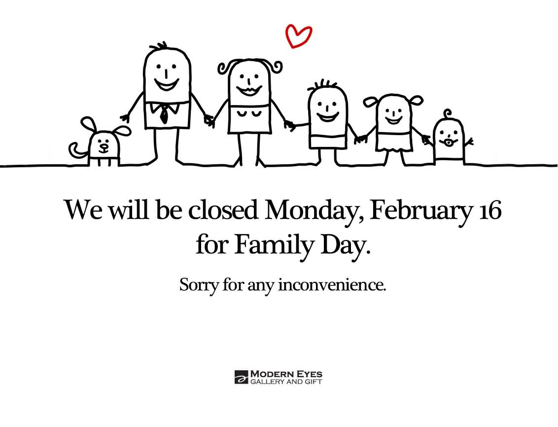 63 amazing family day greeting pictures and photos we will be closed for family day m4hsunfo