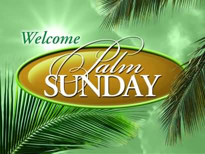 Welcome Palm Sunday