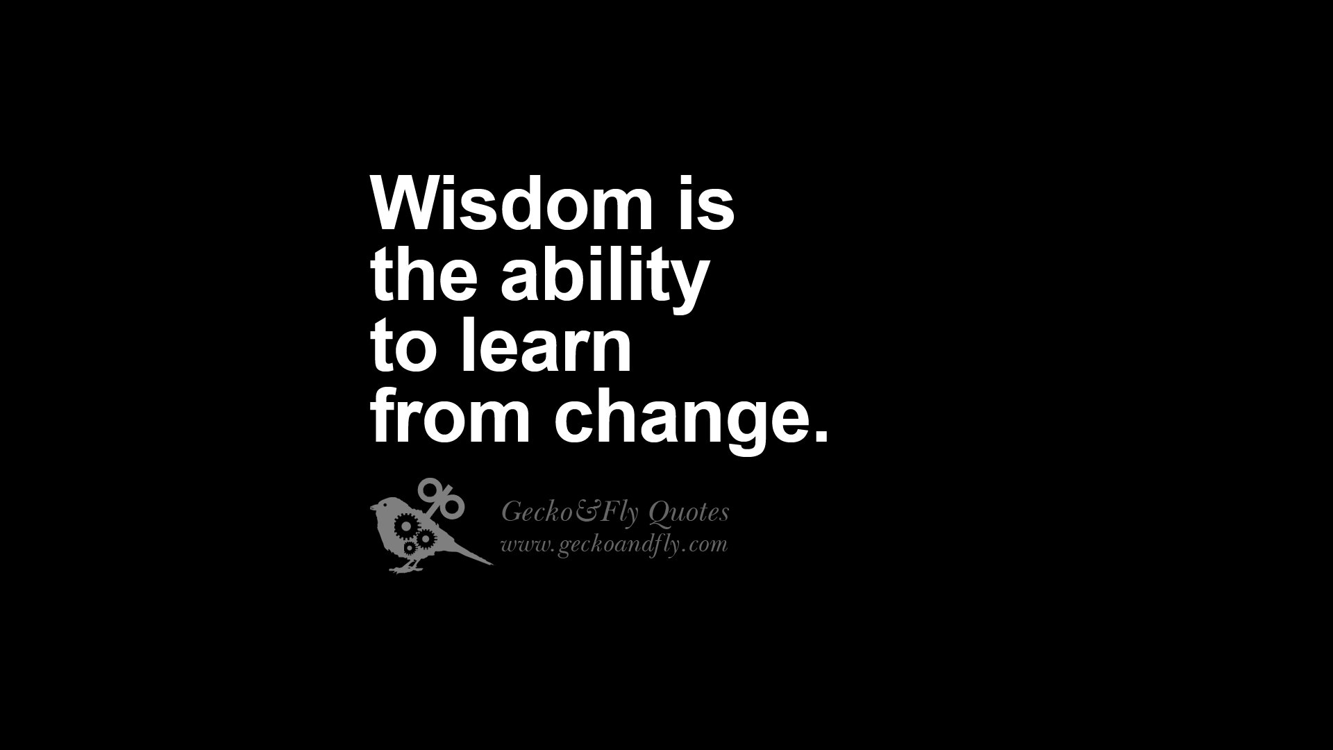 Wisdom Is The Ability To Learn From Change.