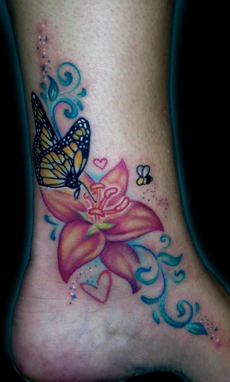 40 Butterfly Tattoos On Outer Ankle
