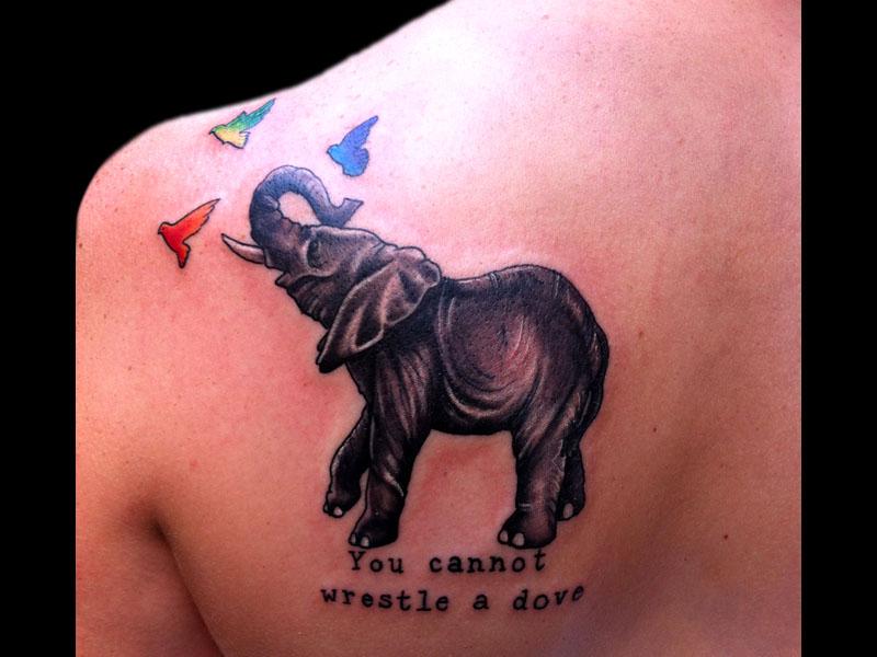 50 elephant tattoos on back. Black Bedroom Furniture Sets. Home Design Ideas