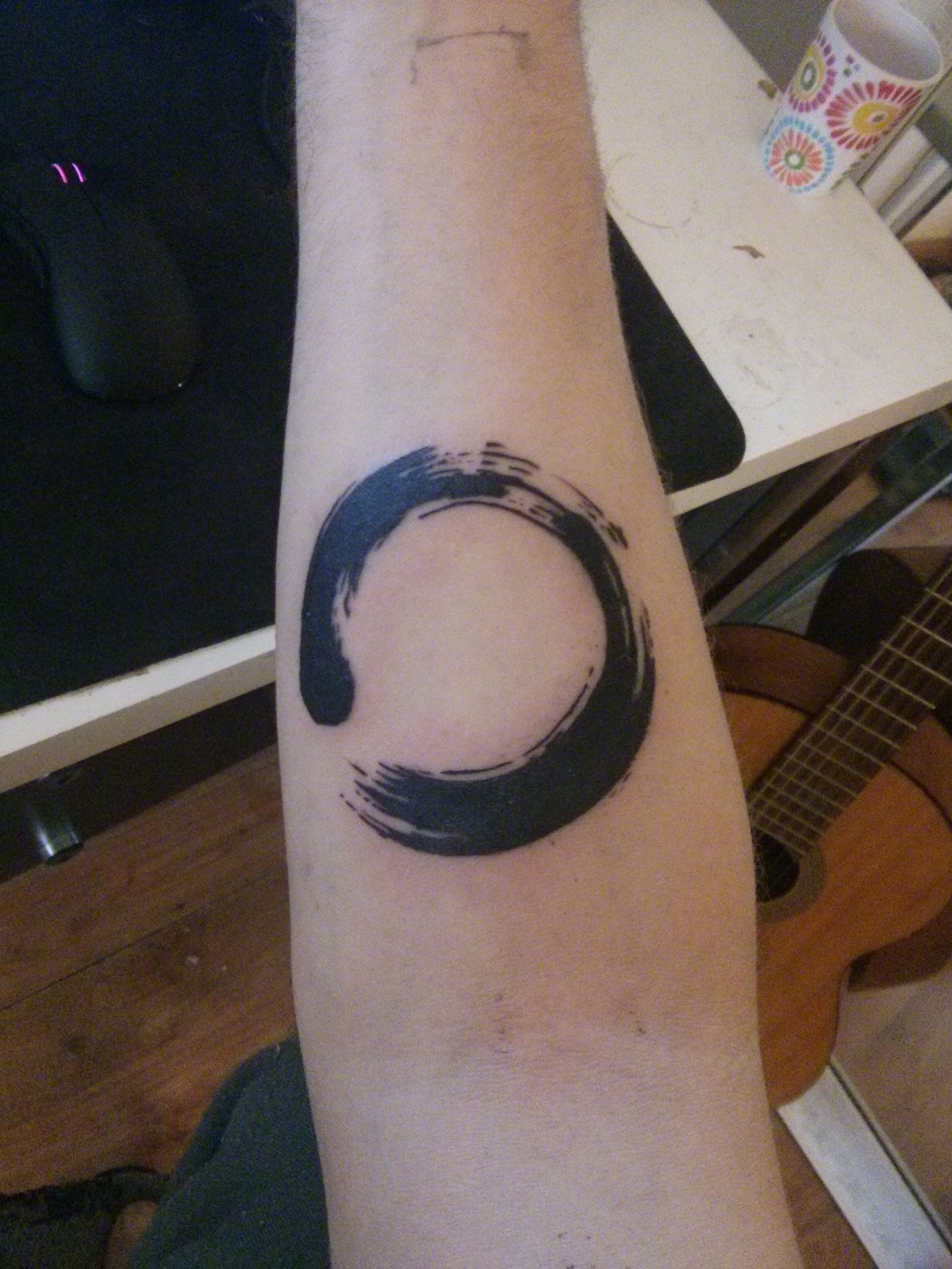 95422412b8ecc Zen Enso Circle Tattoo On Forearm By Platon Sosnytskyi