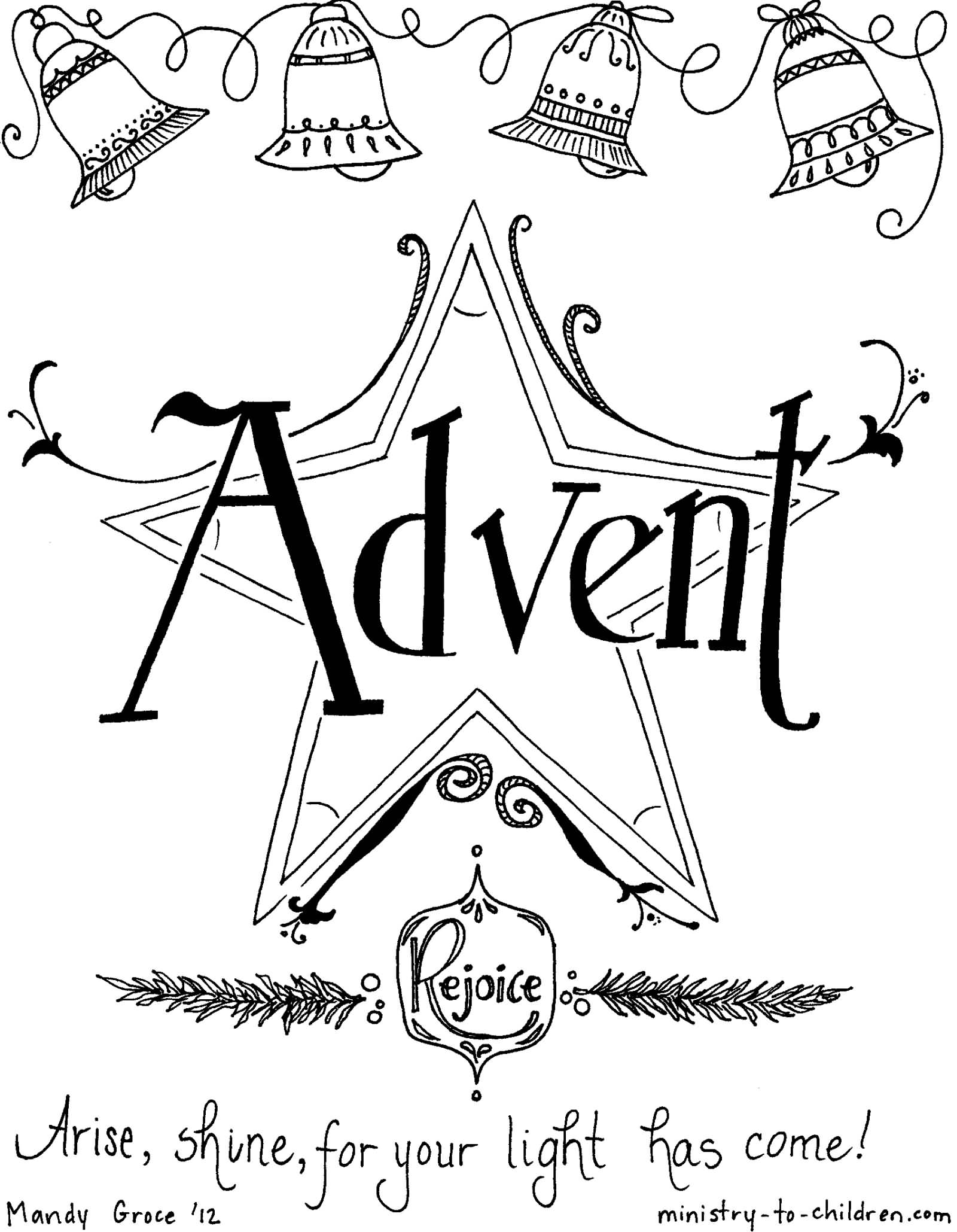 advent coloring pages joy - photo#29