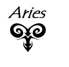 e26baab65 Amazing Black Tribal Aries Zodiac Sign Tattoo Design