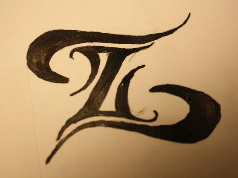 09928eb06 Amazing Black Tribal Zodiac Sign Tattoo Design
