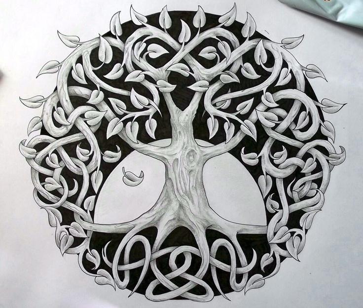 48 celtic tree of life tattoos ideas. Black Bedroom Furniture Sets. Home Design Ideas