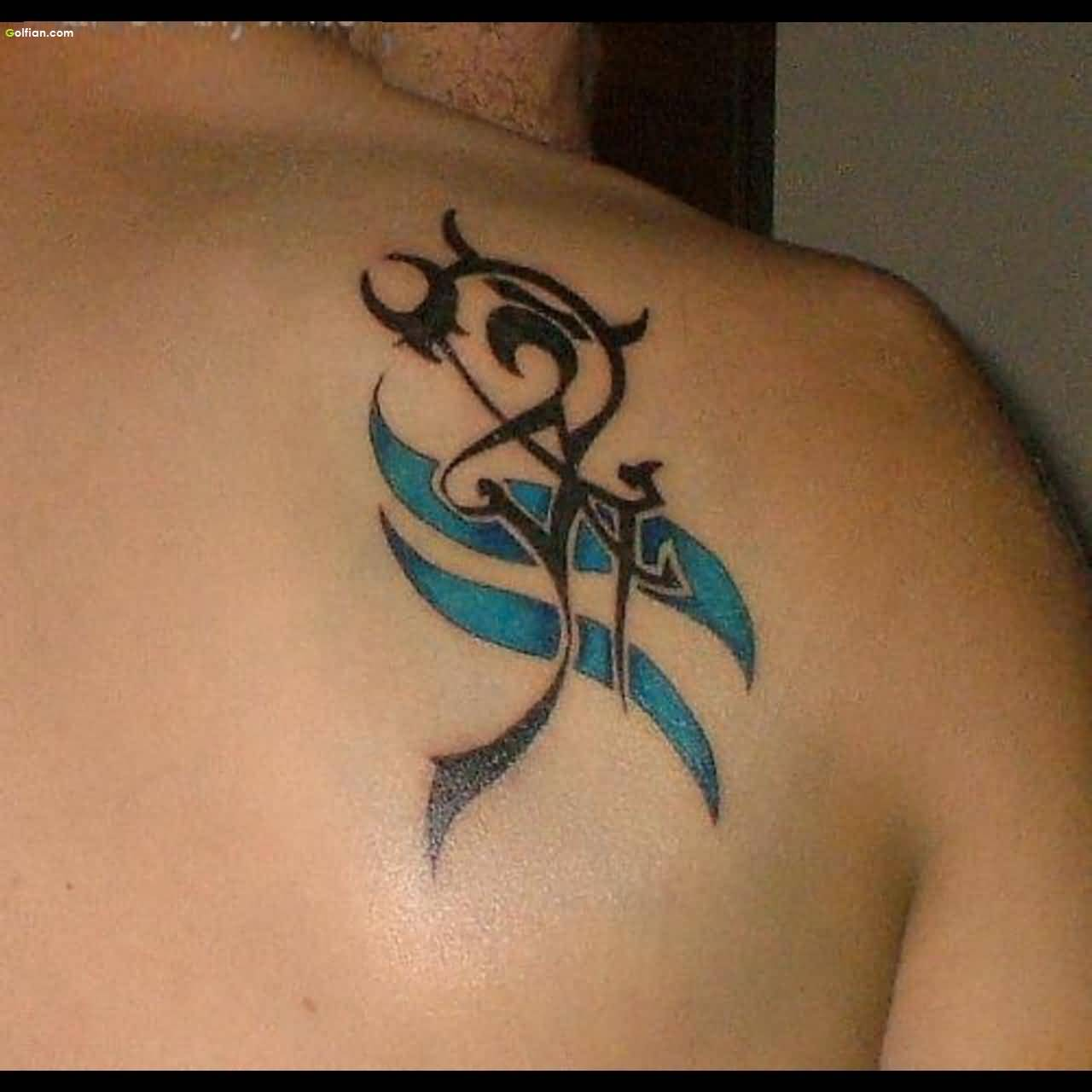 55 aquarius zodiac sign tattoos and designs for Tattoo horoscope signs