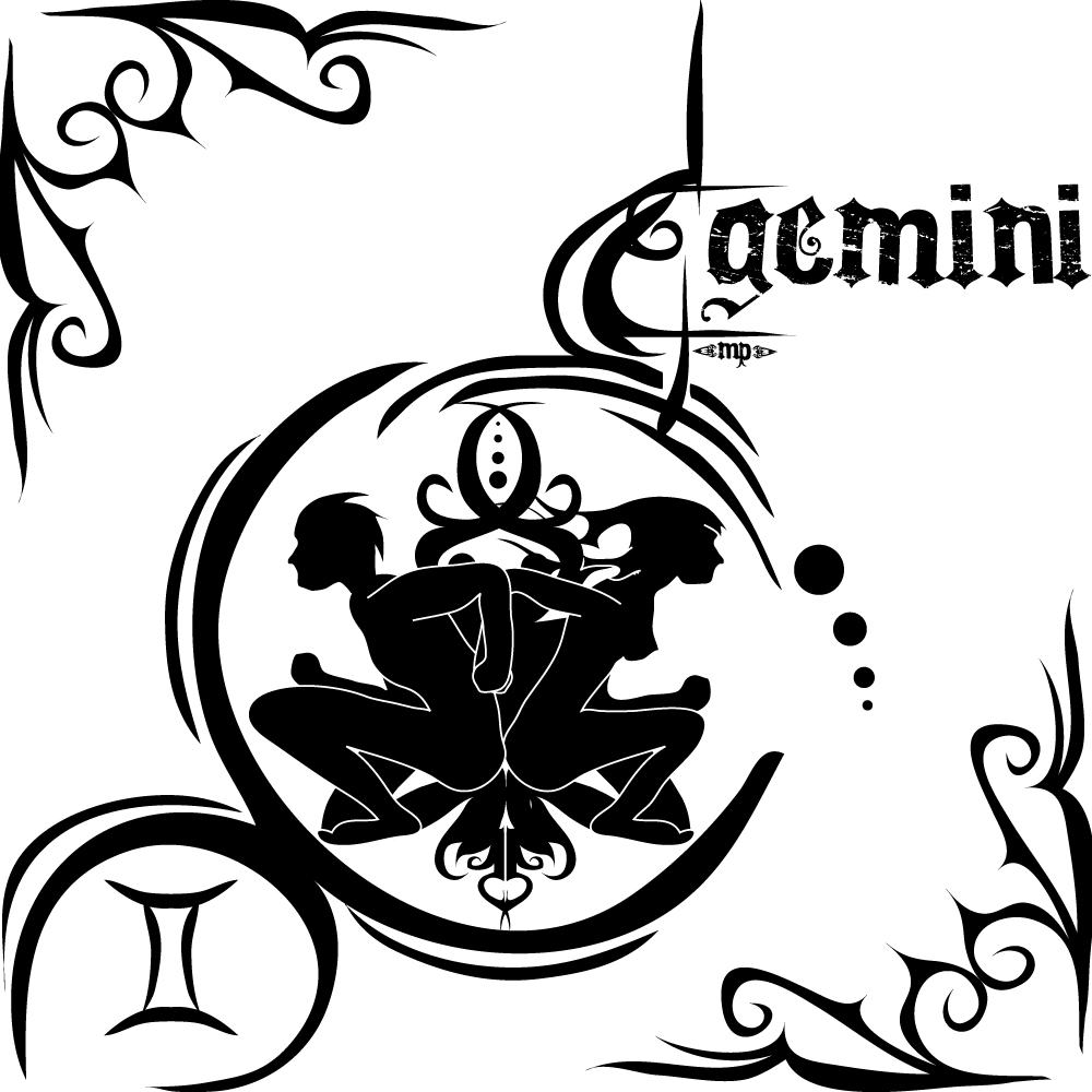 61 gemini zodiac sign tattoos ideas attractive black gemini zodiac sign tattoo stencil buycottarizona Image collections