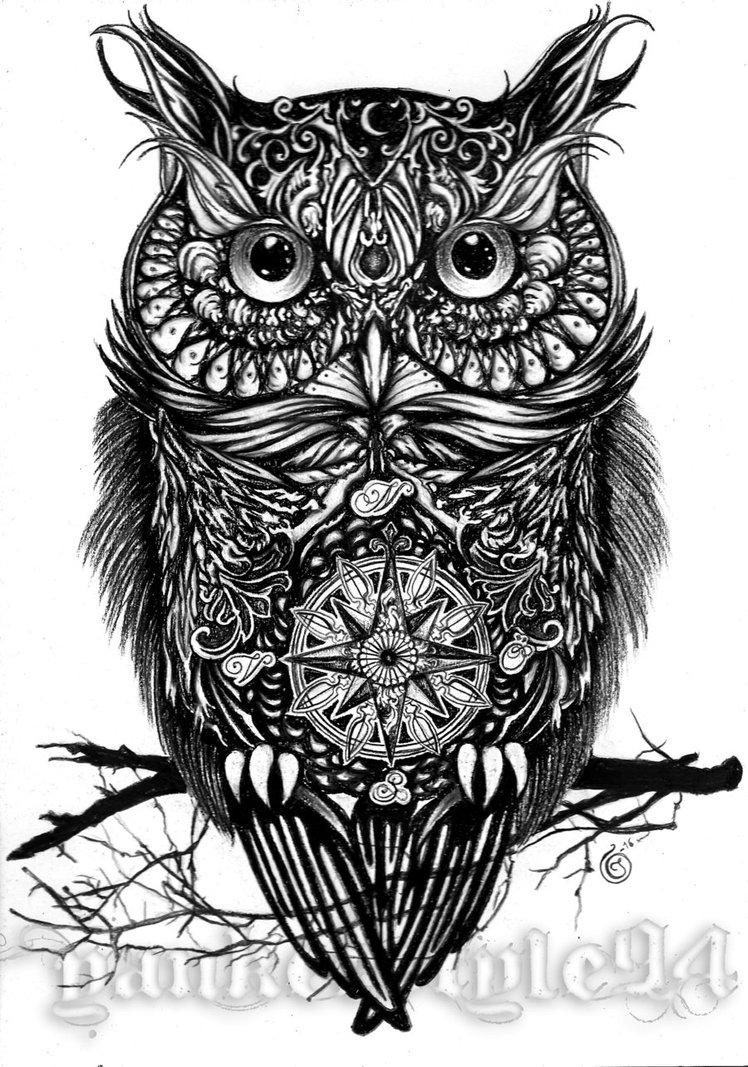 30 best owl tattoo designs. Black Bedroom Furniture Sets. Home Design Ideas