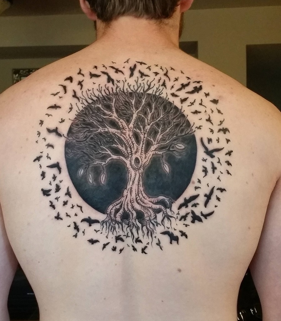 40 Tree Of Life Tattoos With Birds