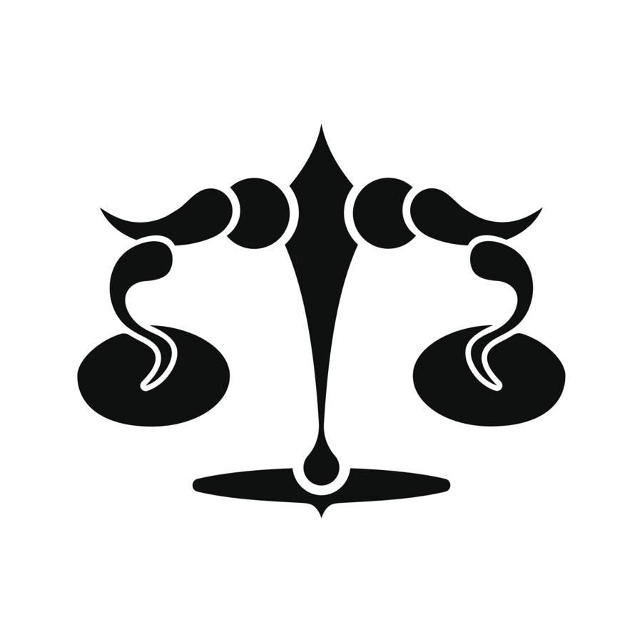 Sign tattoo designs - Attractive Black Libra Zodiac Sign Tattoo Design