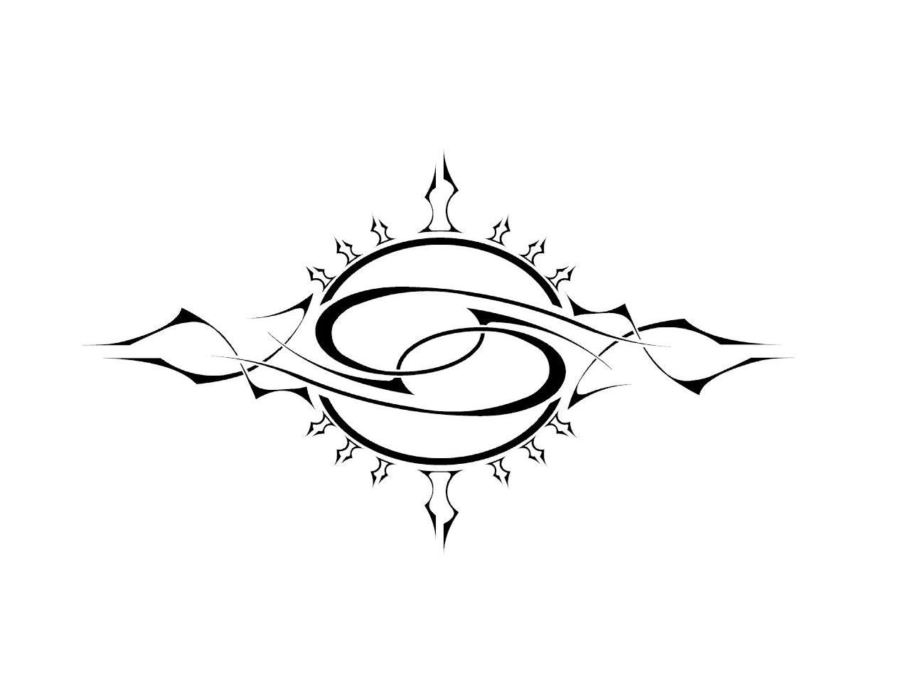 Tribal-Tattoos Attractive-Cancer-Zodiac-Sign-Tattoo-Stencil