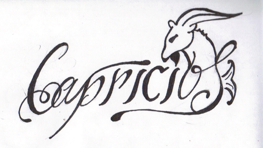 738a2fcc4 Attractive Capricorn Zodiac Sign Tattoo Design