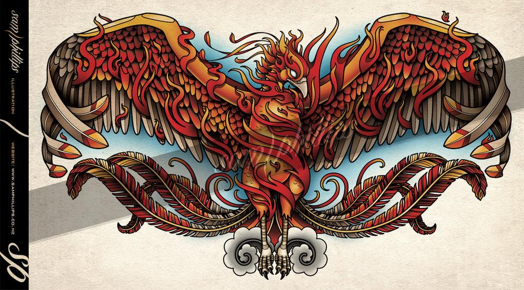 30 Phoenix Tattoos On Chest
